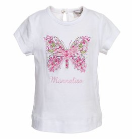 Monnalisa Monnalisa T shirt vlinder
