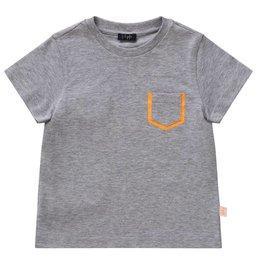 Il Gufo Il Gufo t shirt grijs oranje