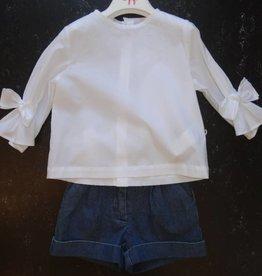 Il Gufo Il Gufo blouse mouw wit