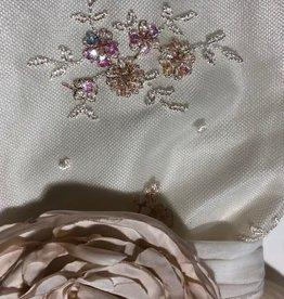 Monny jurk rose voile rok rijgrug