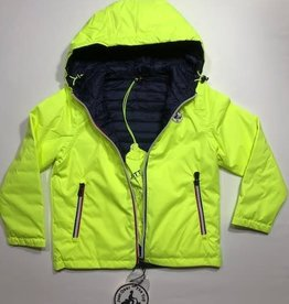 JOTT Jott jas met kap omkeerbaar geel/blauw