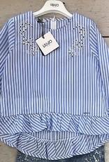 Liu Jo Liu Jo blouse licht blauw/wit
