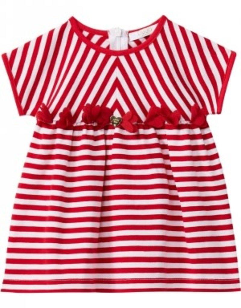 Liu Jo Liu Jo jurk rood/wit streep
