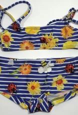 Selini bikini blauw wit bloem