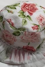 Selini Selini hoed wit roosjes