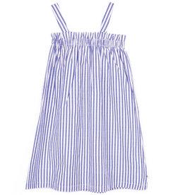 Le temps de cerises jurk streep blauw/wit