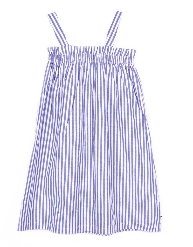 Le temps de cerises Le temps de cerises jurk streep blauw/wit