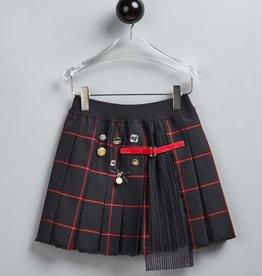 T LOVE rok ruit zwart rood
