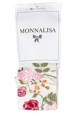 Monnalisa collant ecru bloemen