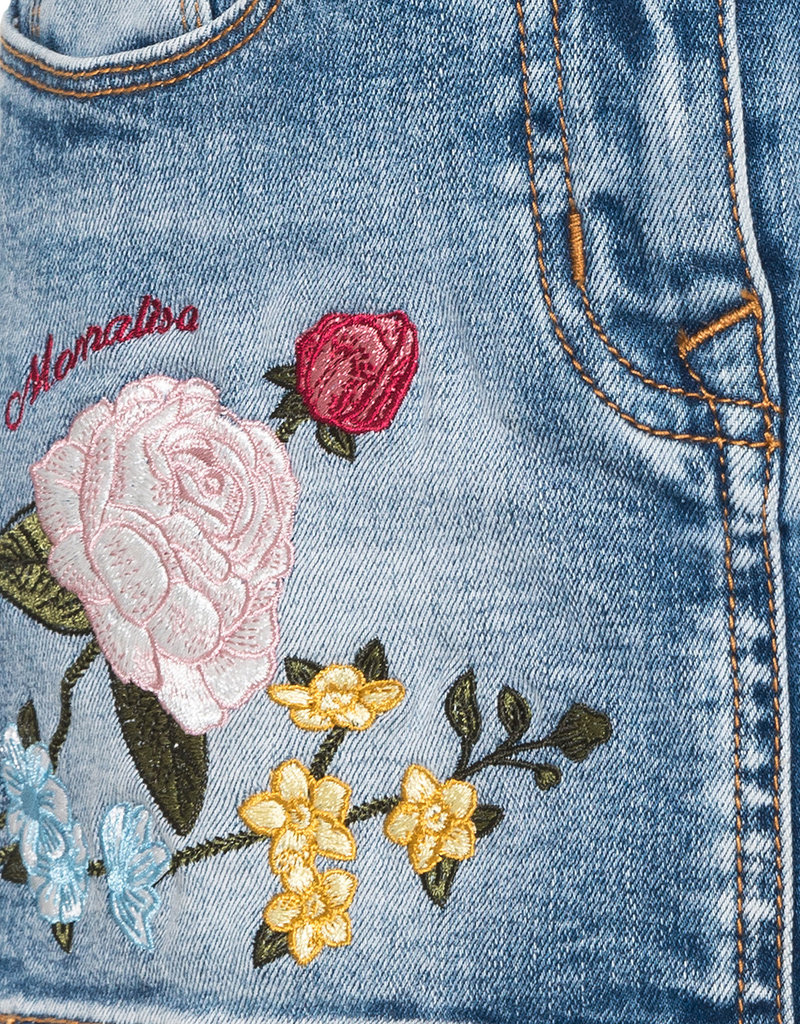 Monnalisa rok jeans bloem
