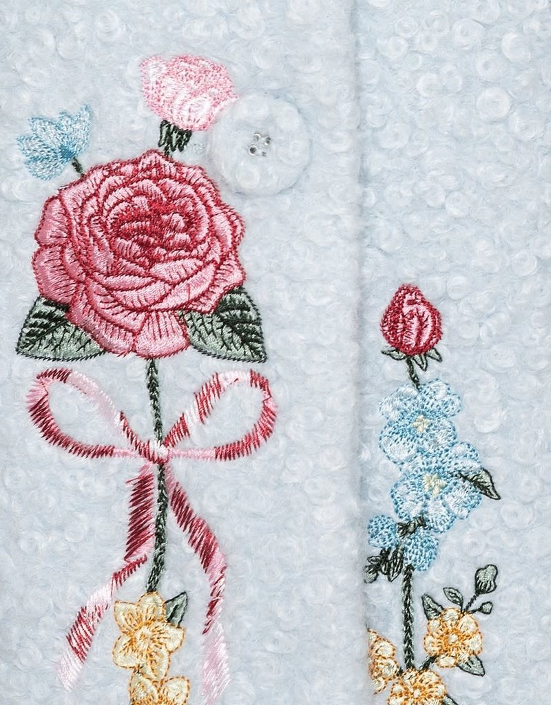 Monnalisa jas l blauw bloemen