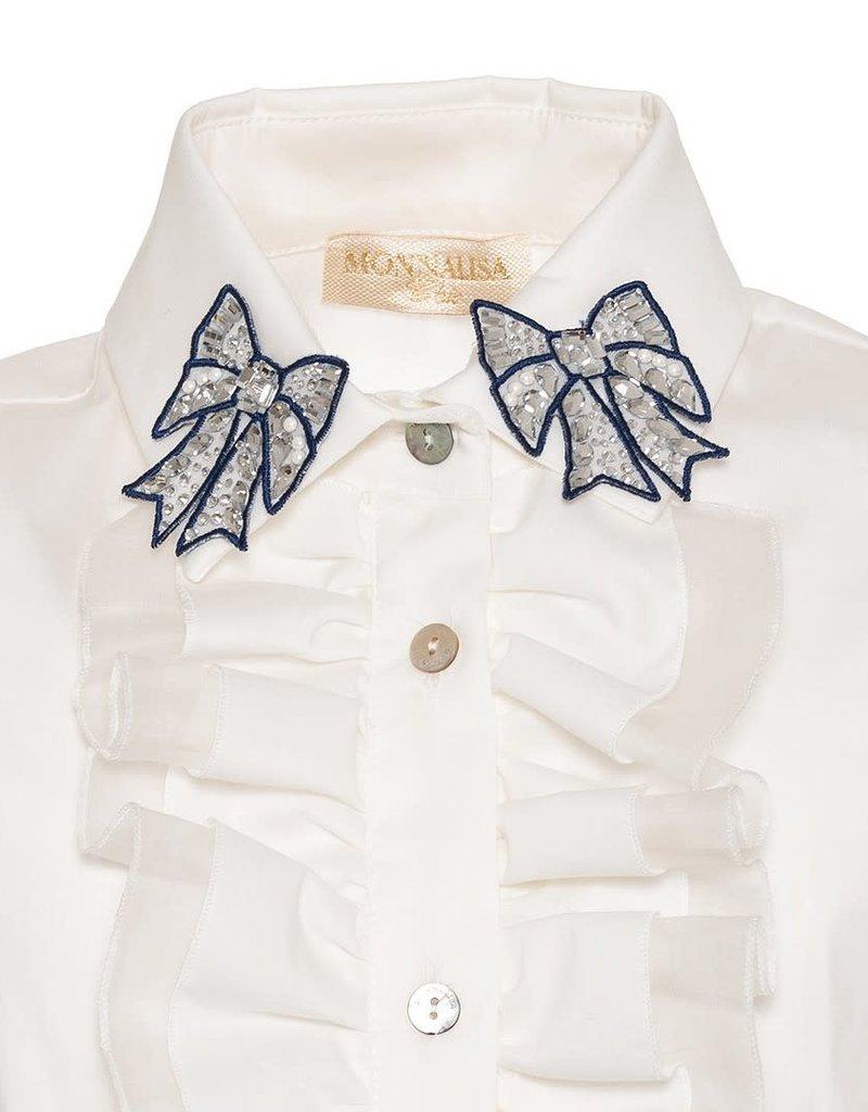 Monnalisa blouse ecru ruches