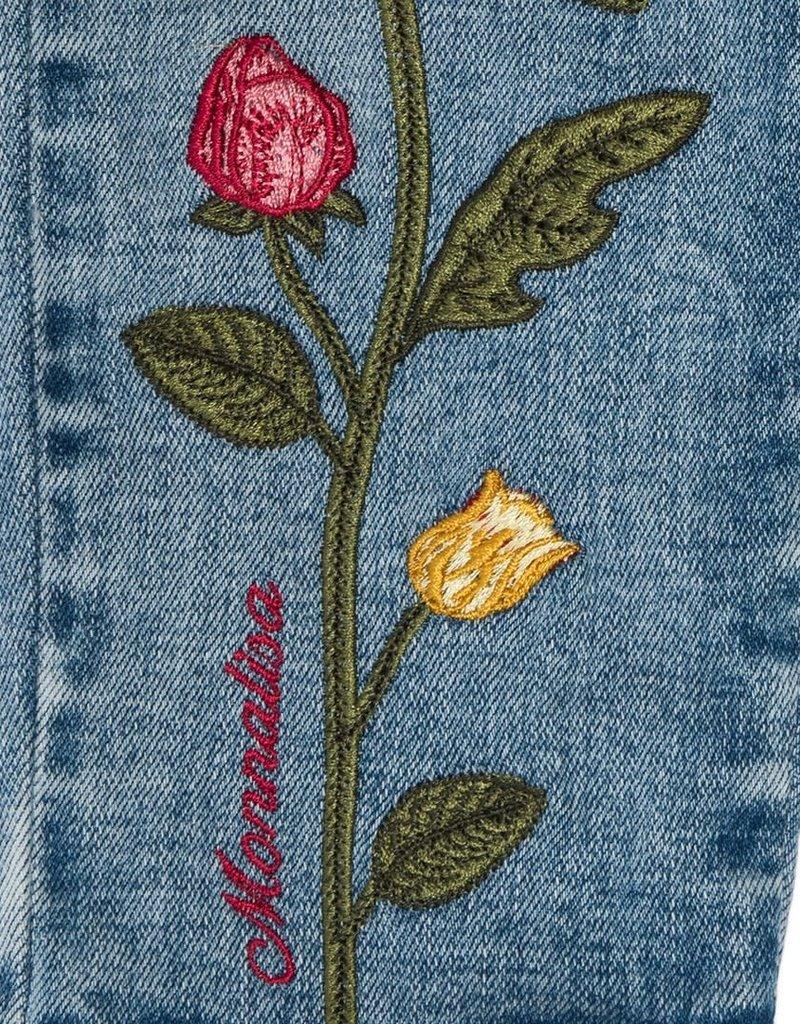 Monnalisa broek jeans bloemen