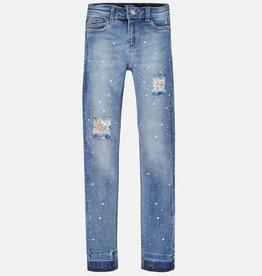 Mayoral broek jeans parels