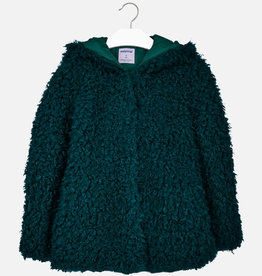 Mayoral jas boucle donker groen