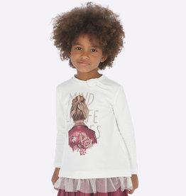 Mayoral t shirt ecru meisje