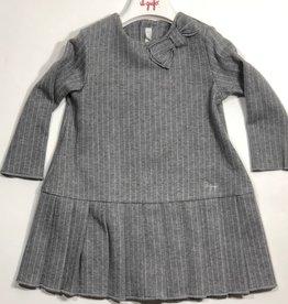 Il Gufo jurk streep grijs ecru