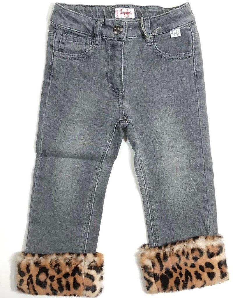 Il Gufo broek jeans leopard