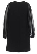 Monnalisa jurk zwart voile