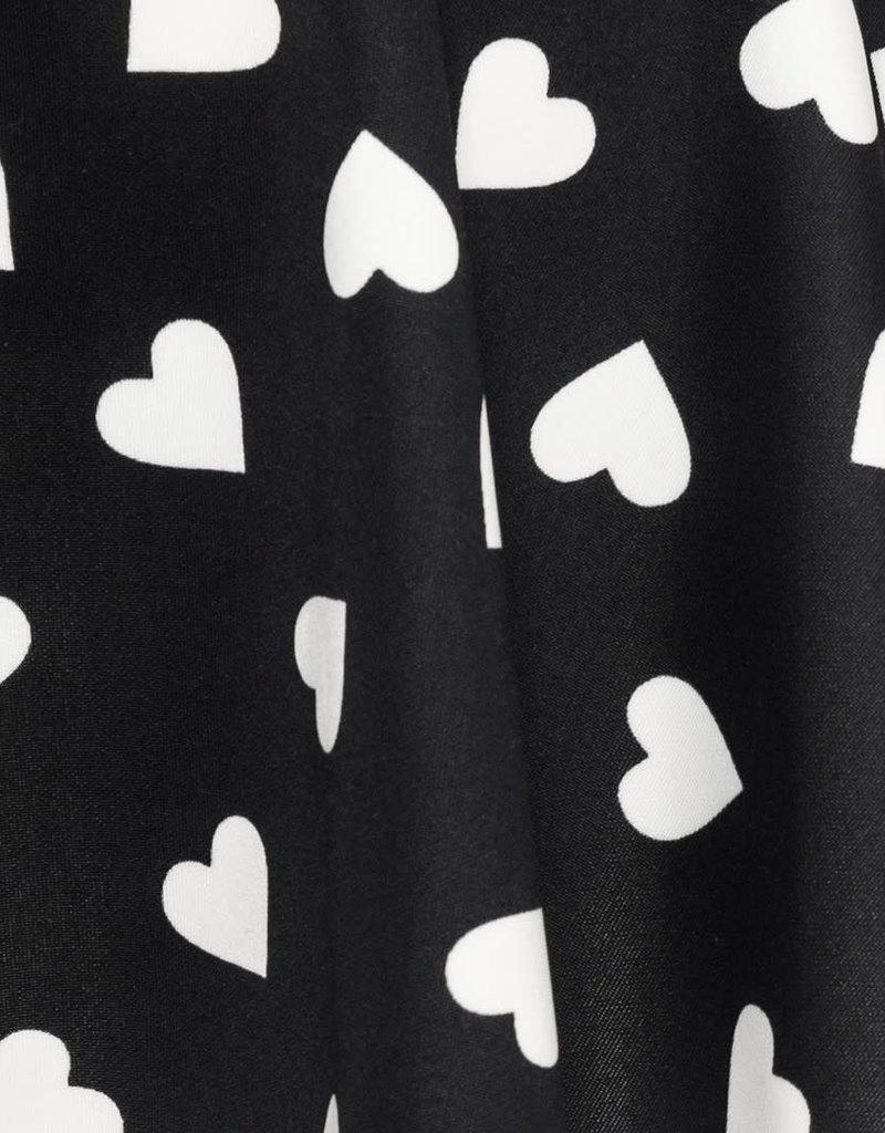 Monnalisa rok zwart wit hart