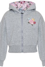 Monnalisa sweater grijs kap glam