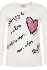 Monnalisa t shirt ecru strong girls