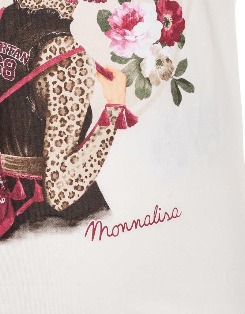 Monnalisa t shirt meisje leopard