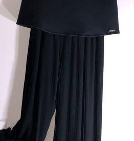 Guess jumpsuit zwart plisse