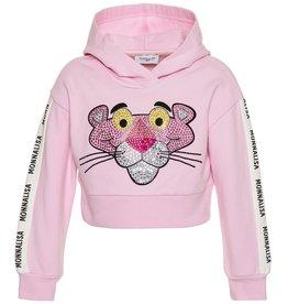 Monnalisa sweater rose kap panter