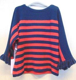 Elsy trui rood blauw