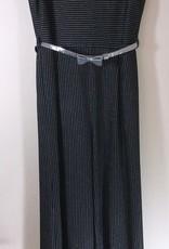 Elsy jumpsuit zwart zilver ceintuur