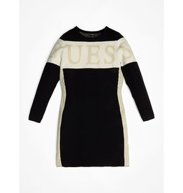 Guess jurk ecru/zwart stretch