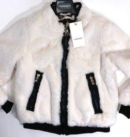 Twinset jas  bont omkeerbaar