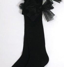 Twinset kousen kant zwart strik