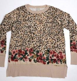Twinset trui leopard bloemen