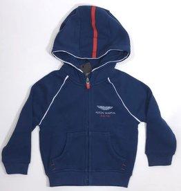 Hackett  sweater jog rits kap blauw