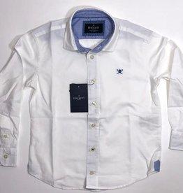 Hackett  hemd wit l blauw details
