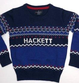 Hackett  trui jacquard kleuren