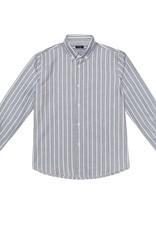 Il Gufo hemd streep grijs wit