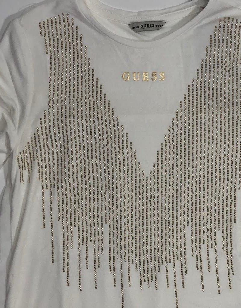 Guess t shirt glitter goud