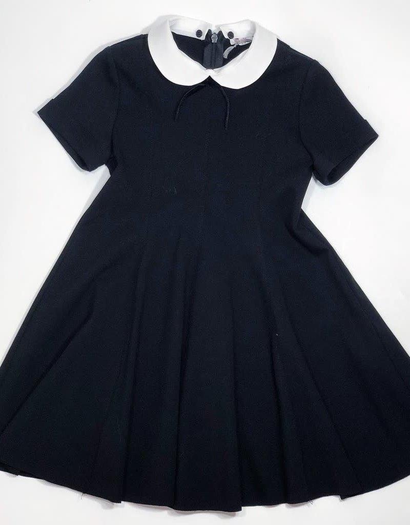 Il Gufo jurk zwart witte kraag