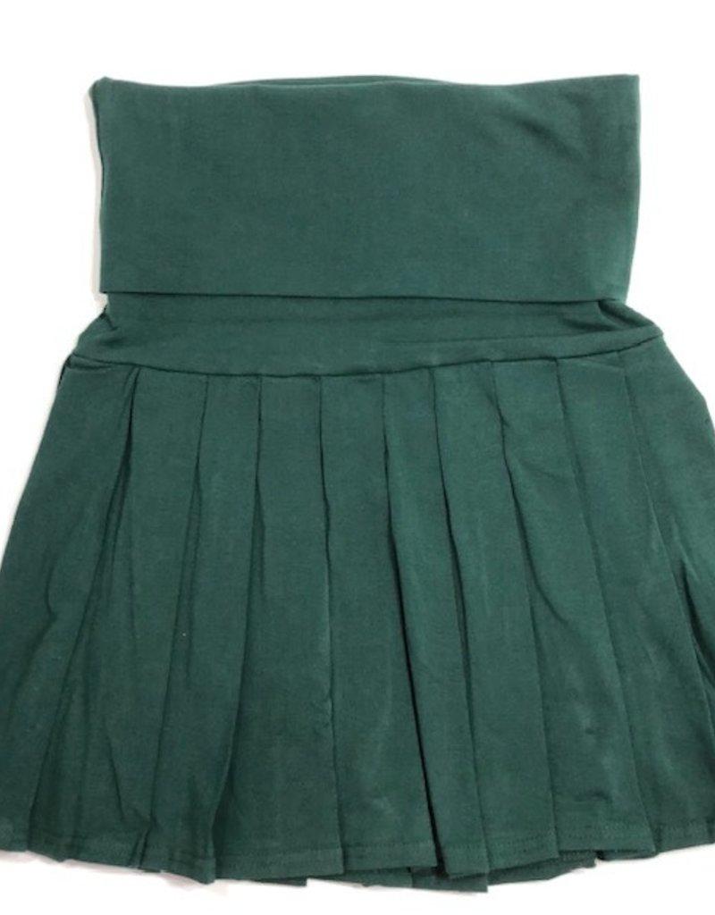 Schooluniform carmen plooirok donker groen