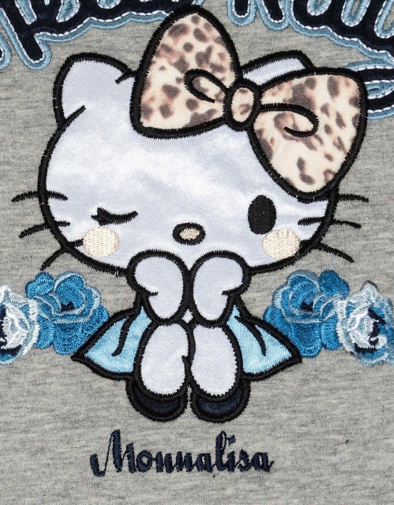 Monnalisa jurk grijs hello kitty