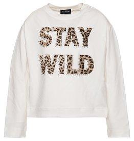 Monnalisa t shirt stay wild ecru