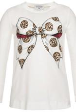 Monnalisa t shirt strik leopard