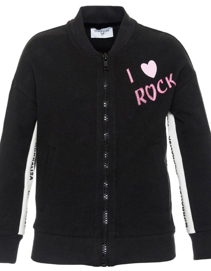 Monnalisa gilet zwart rock