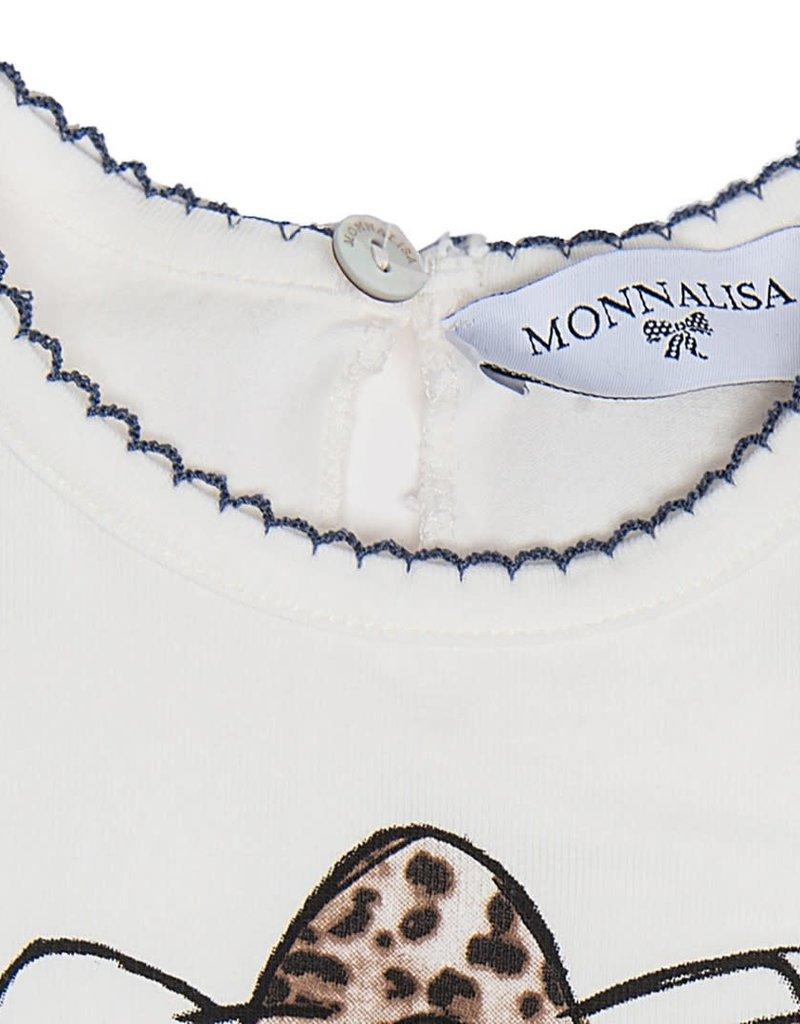 Monnalisa t shirt ecru hello