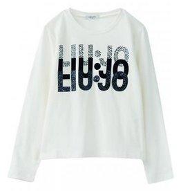 Liu Jo t shirt wit logo blauw