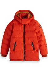 Scotch&Soda  jas oranje rood met kap
