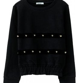 Liu Jo sweater zwart met studs